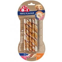 8in1 Przysmak Triple Flavour Twisted Sticks 10szt