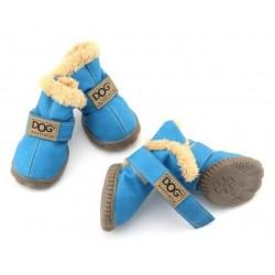 ZOLUX Buty dla psa T1 (4x3 cm, wysokość cholewki 7 cm) niebieskie 4 szt.