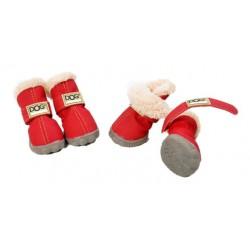 ZOLUX Buty dla psa T4 (5,5x4,5 cm, wysokość cholewki 8 cm) czerwone 4 szt.