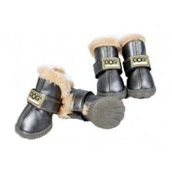 ZOLUX Buty dla psa T4 (5,5x4,5 cm, wysokość cholewki 8 cm) srebrne 4 szt.