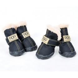 ZOLUX Buty dla psa T4 (5,5x4,5 cm, wysokość cholewki 8 cm) czarne 4 szt.