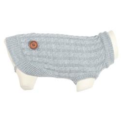 ZOLUX Sweterek Dandy z guzikami S35 kol. szary