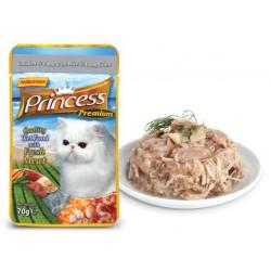 Princess Premium Kurczak Tuńczyk Małże Baby 70g Saszetka