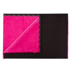 JOQU Koc dla psa - Mata Blanket Minky różowy L