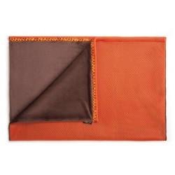 JoQu Koc - Mata Blanket brązowo-pomarańczowy S