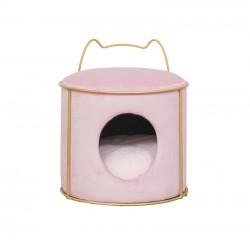Record Home Villa pufa dla kota różowa