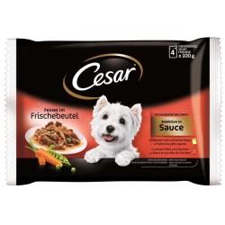 CESAR mix smaków w sosie 4x100g
