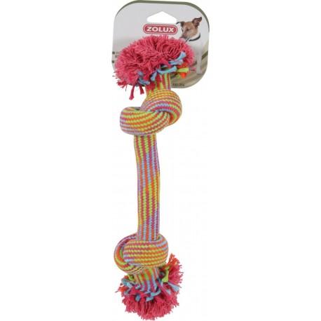 ZOLUX Zabawka sznurowa 2 węzły kolorowa 25 cm