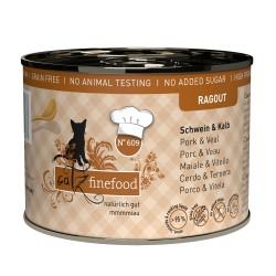 Catz Finefood Ragout 180g - gęś z indykiem z brokułami i gruszką
