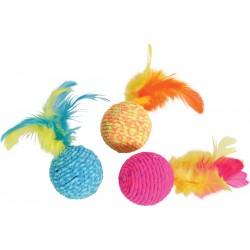 ZOLUX Zabawka dla kota piłka z piórkami elastyczna