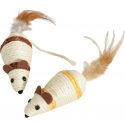 ZOLUX Zabawka dla kota myszka sizal z piórkami