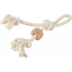 ZOLUX Zabawka sznurowa WILD z uchwytem, z drewnianym krążkiem