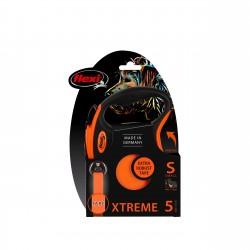 FLEXI Smycz automatyczna XTREME S taśma 5 m kolor pomarańczowy