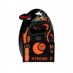 FLEXI Smycz automatyczna XTREME M taśma 5 m kolor pomarańczowy