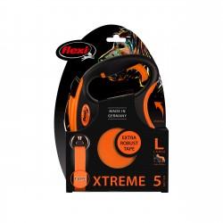 FLEXI Smycz automatyczna XTREME L taśma 5 m kol. pomarańczowy