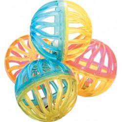 ZOLUX Zabawki dla kota 4 piłeczki z dzwonkami 4 cm
