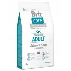 BRIT CARE grain-free adult salmon & potato 12kg + GRATIS Lets Bite 80g