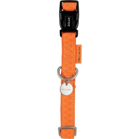 Zolux Obroża Regulowana Mac Leather Pomarańczowa 25 mm 43,5-68,5 cm