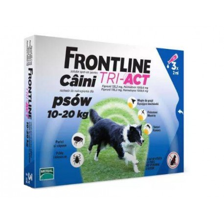 FRONTLINE Tri-Act M 10-20 kg 3 pipety