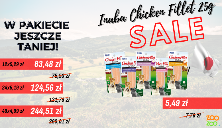 Promocyjne ceny Inaba Chicken Fillet 25g