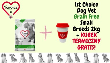 1st Choice Dog Vet Grain Free Small Breeds 2kg + KUBEK TERMICZNY GRATIS!